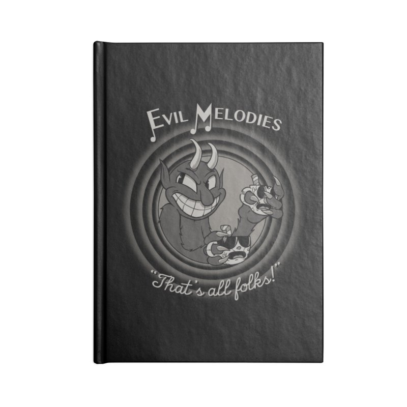 Evil Melodies Accessories Lined Journal Notebook by spike00
