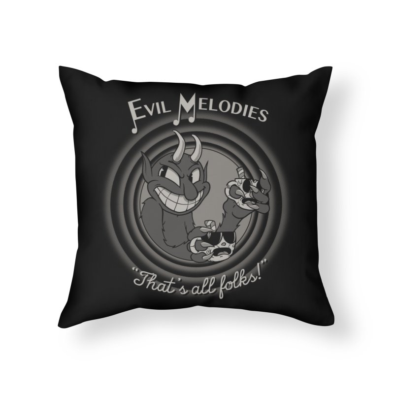 Evil Melodies Home Throw Pillow by spike00