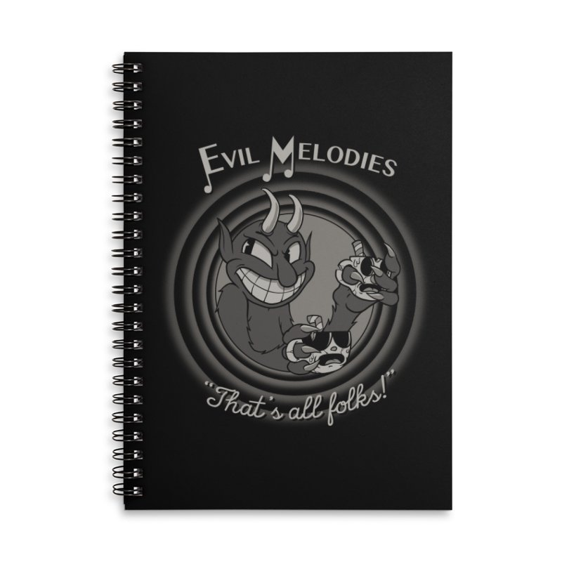 Evil Melodies Accessories Lined Spiral Notebook by spike00