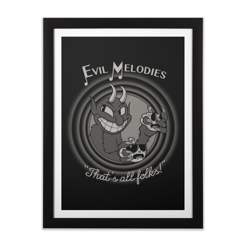 Evil Melodies Home Framed Fine Art Print by spike00