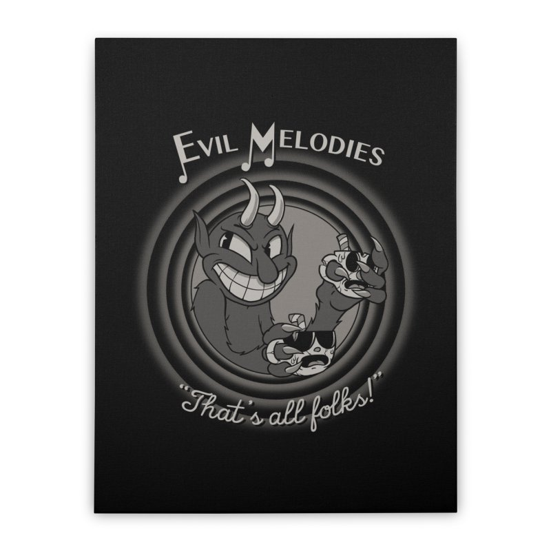 Evil Melodies Home Stretched Canvas by spike00