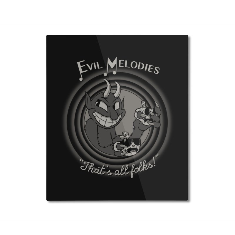 Evil Melodies Home Mounted Aluminum Print by spike00
