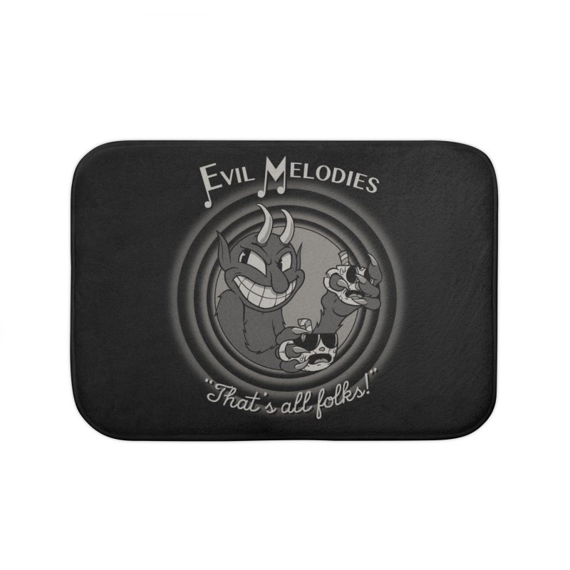 Evil Melodies Home Bath Mat by spike00