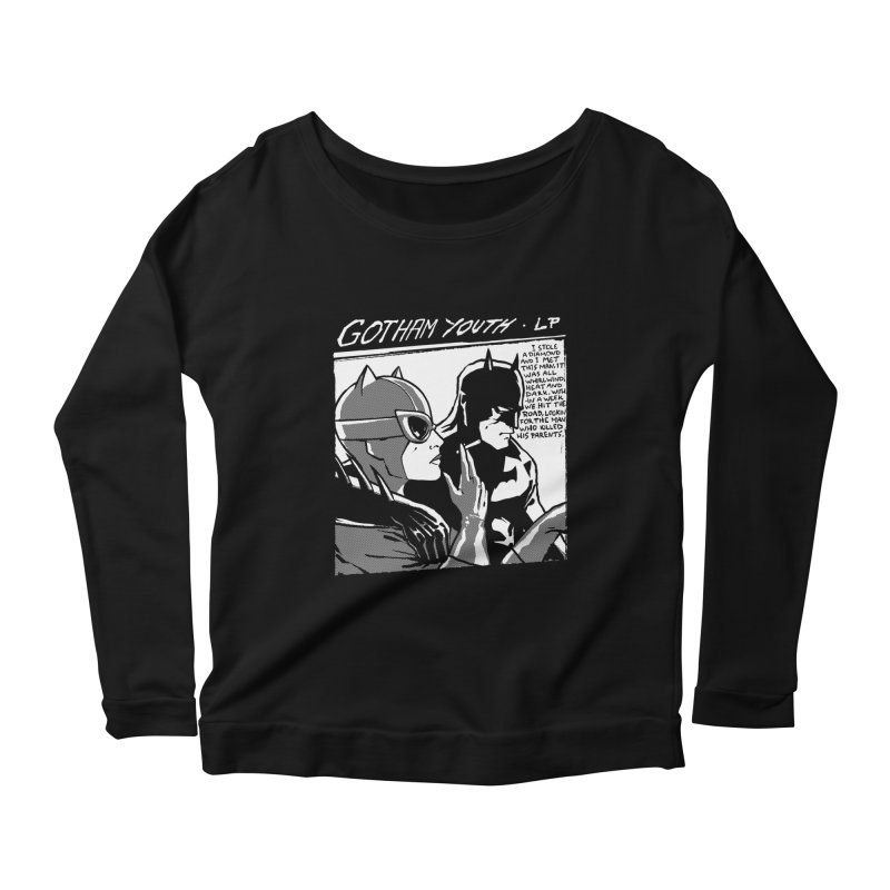 Gotham Youth Women's Scoop Neck Longsleeve T-Shirt by spike00