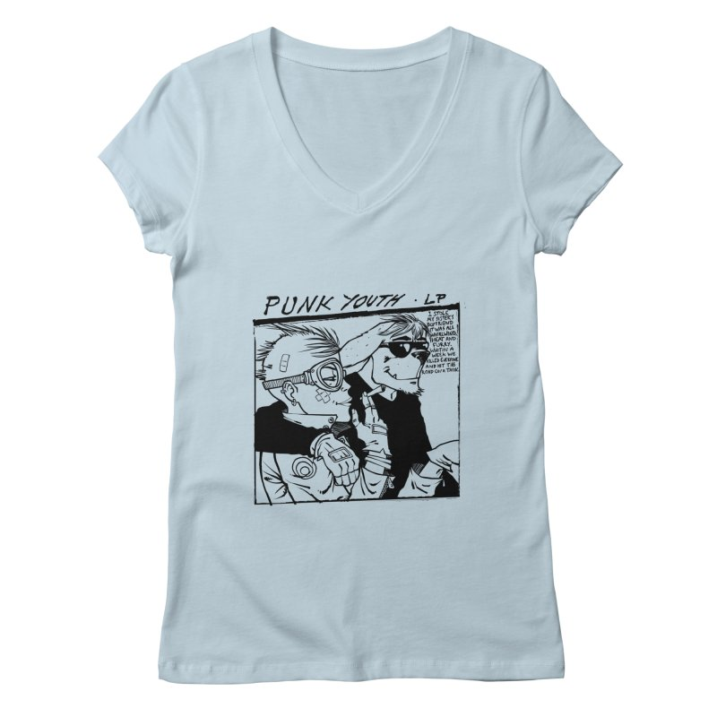 Punk Youth Women's V-Neck by spike00