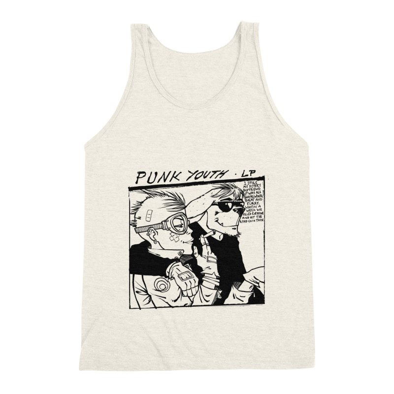 Punk Youth Men's Triblend Tank by spike00