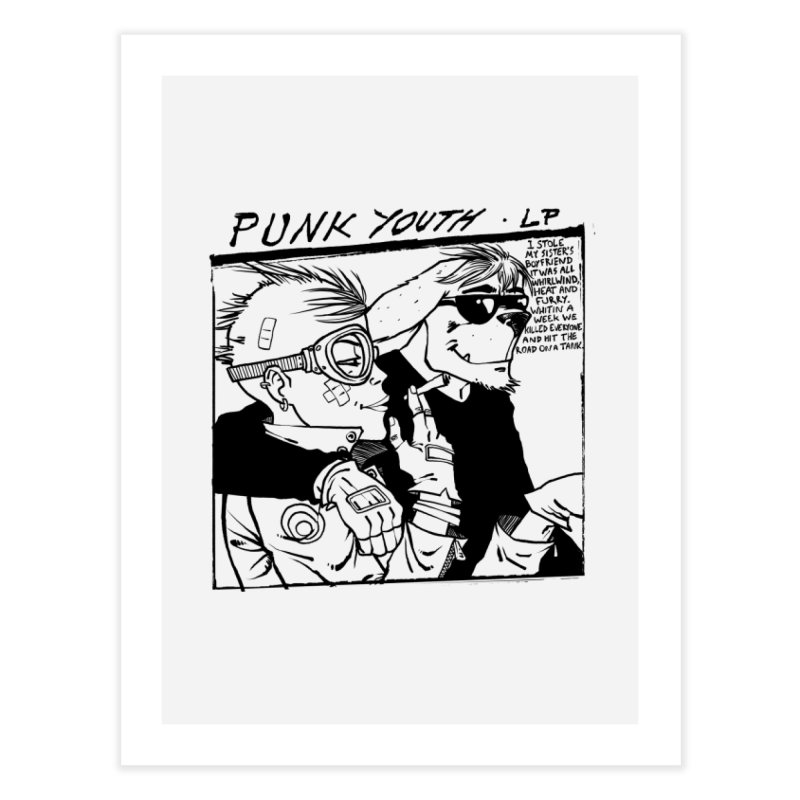 Punk Youth Home Fine Art Print by spike00