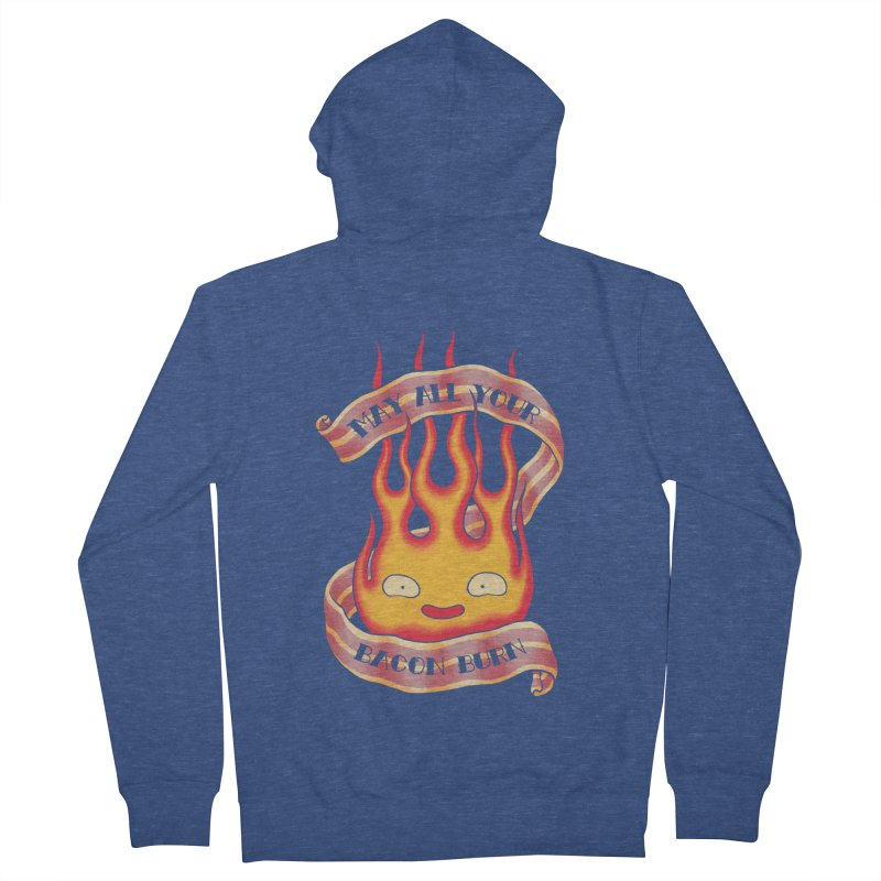 Bacon Burner Women's French Terry Zip-Up Hoody by spike00