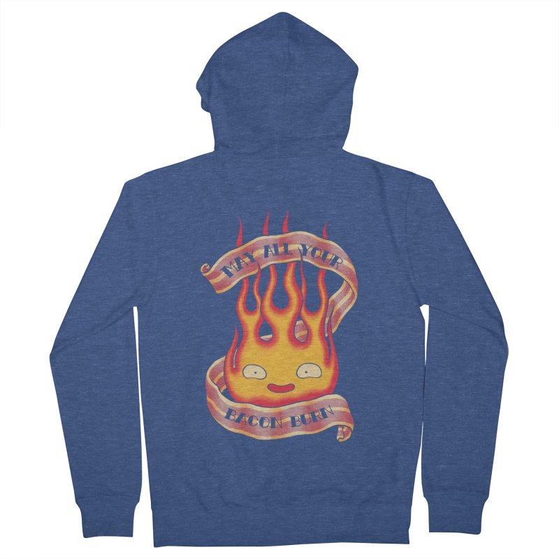 Bacon Burner Men's Zip-Up Hoody by spike00