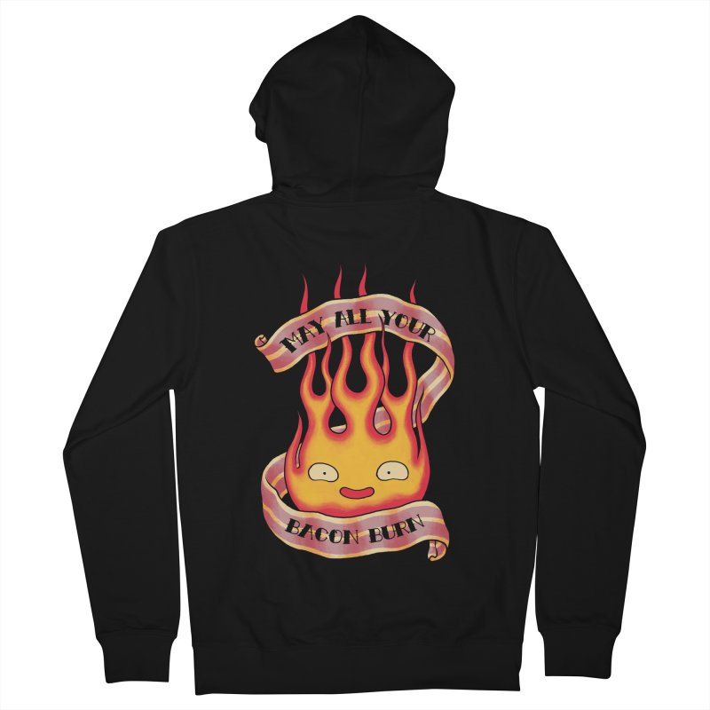 Bacon Burner Men's French Terry Zip-Up Hoody by spike00