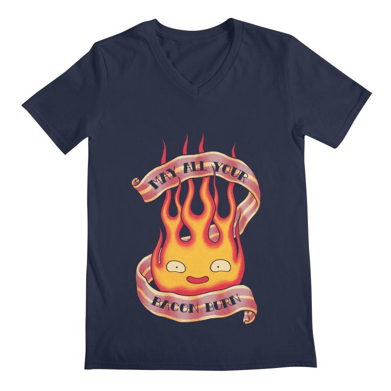 Bacon Burner Men's V-Neck by spike00