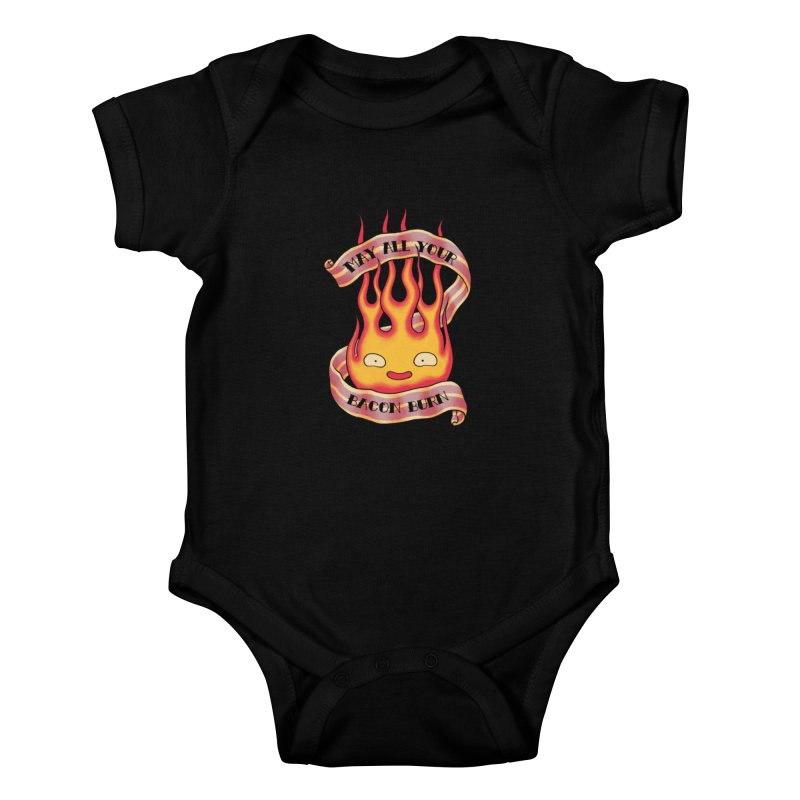 Bacon Burner Kids Baby Bodysuit by spike00