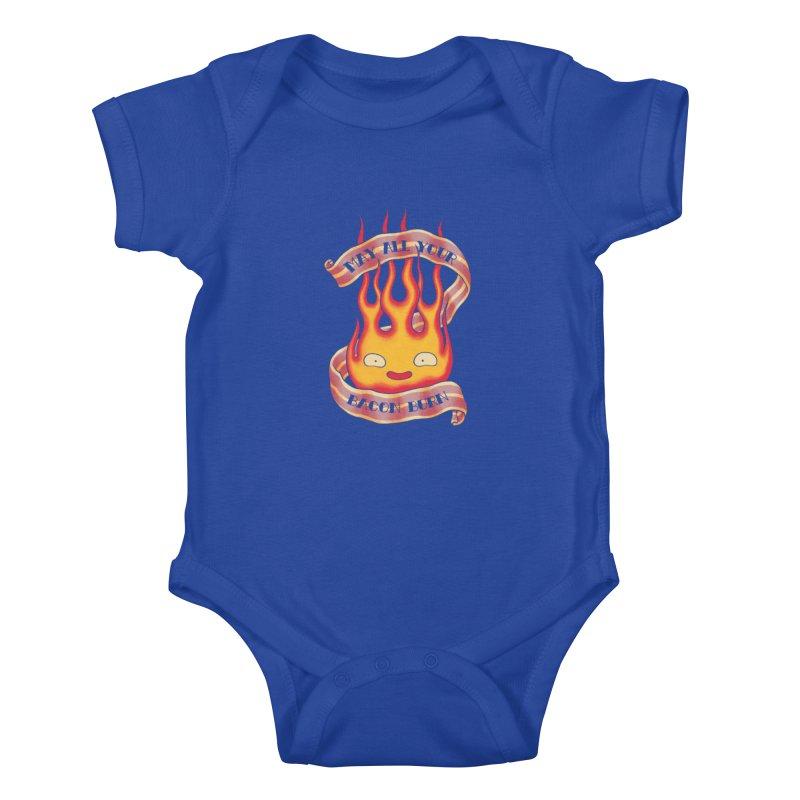 Bacon Burner Kids Baby Bodysuit by spike00