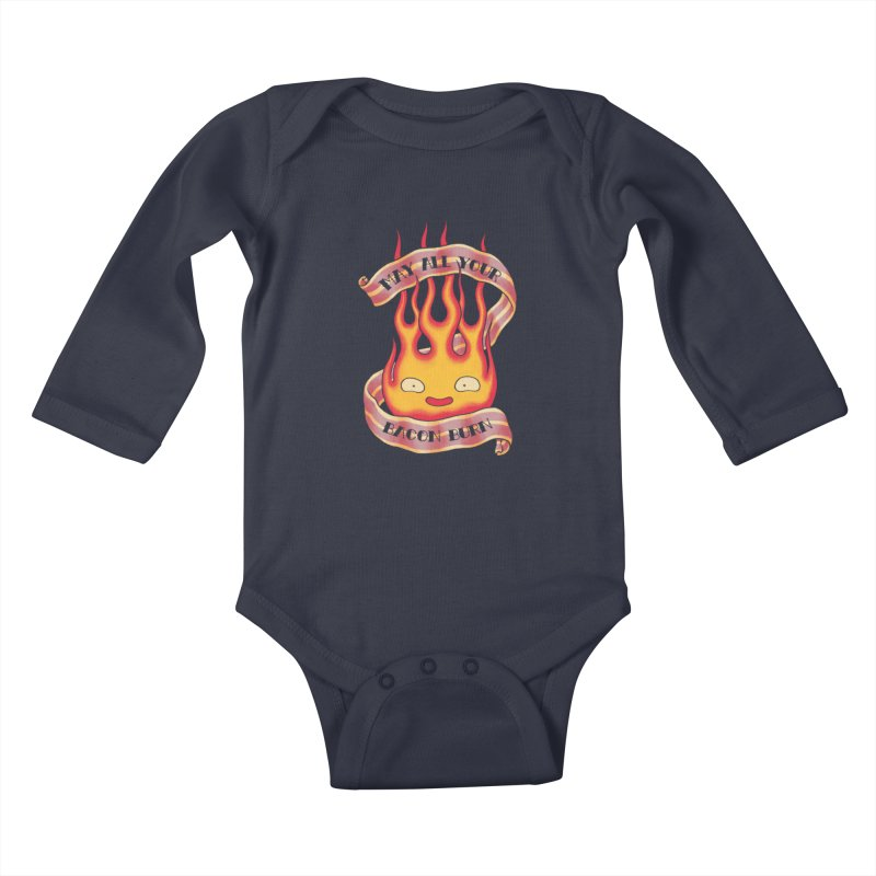 Bacon Burner Kids Baby Longsleeve Bodysuit by spike00