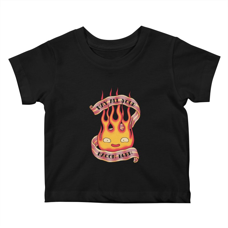 Bacon Burner Kids Baby T-Shirt by spike00