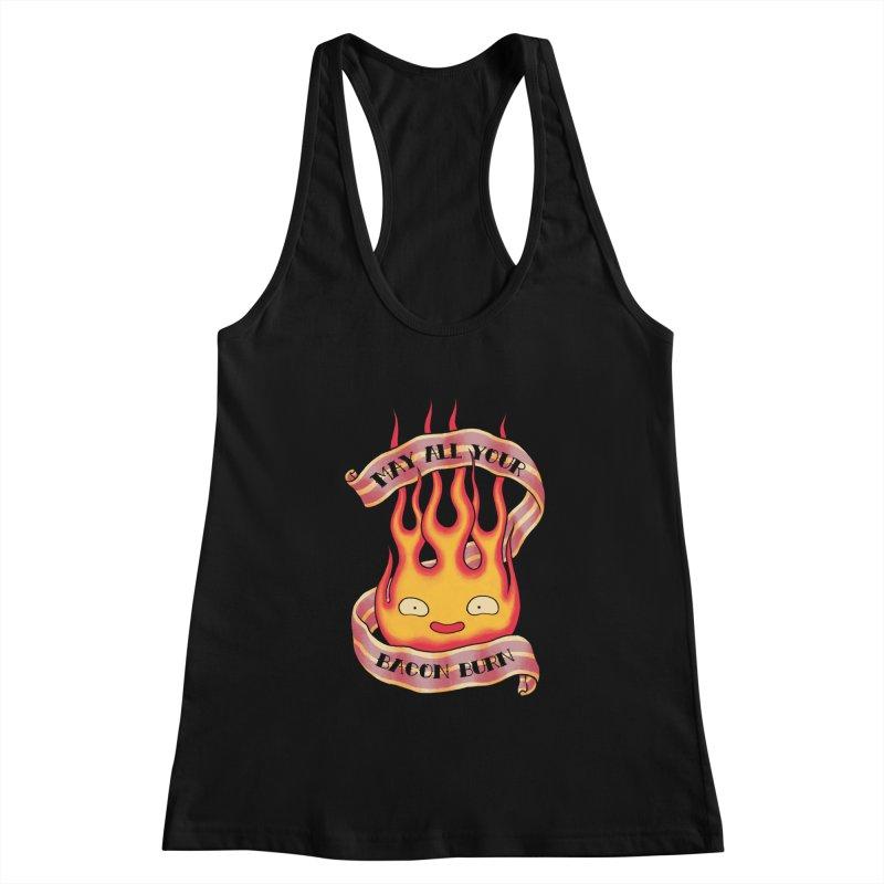 Bacon Burner Women's Racerback Tank by spike00