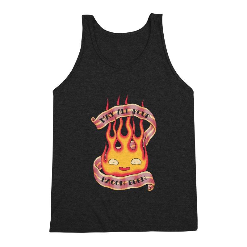 Bacon Burner Men's Triblend Tank by spike00