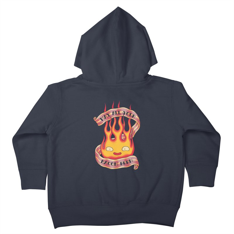 Bacon Burner Kids Toddler Zip-Up Hoody by spike00