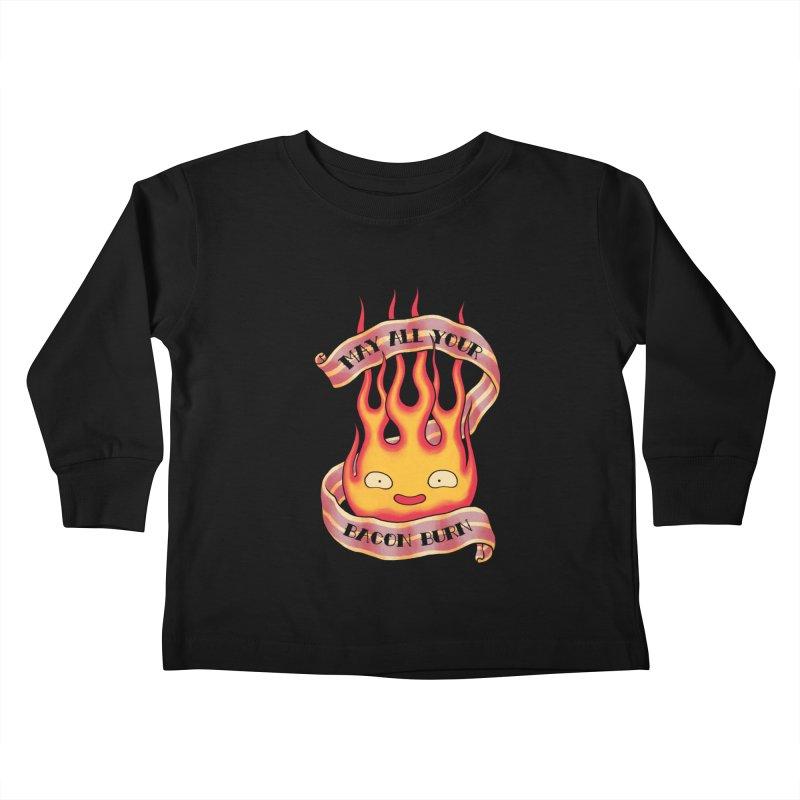 Bacon Burner Kids Toddler Longsleeve T-Shirt by spike00