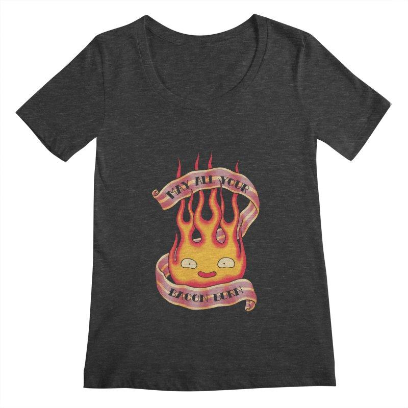 Bacon Burner Women's Scoopneck by spike00