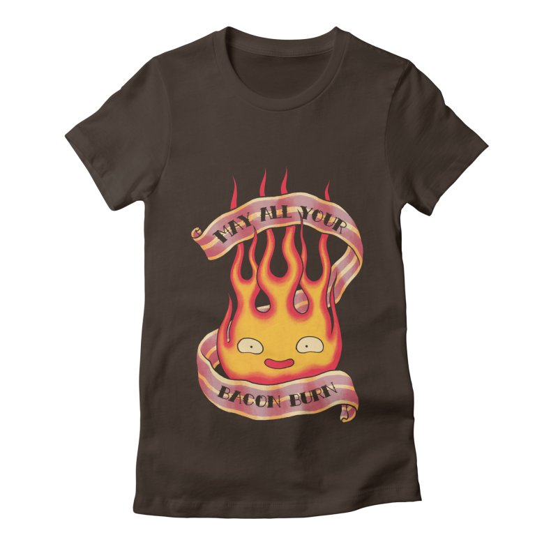 Bacon Burner Women's Fitted T-Shirt by spike00