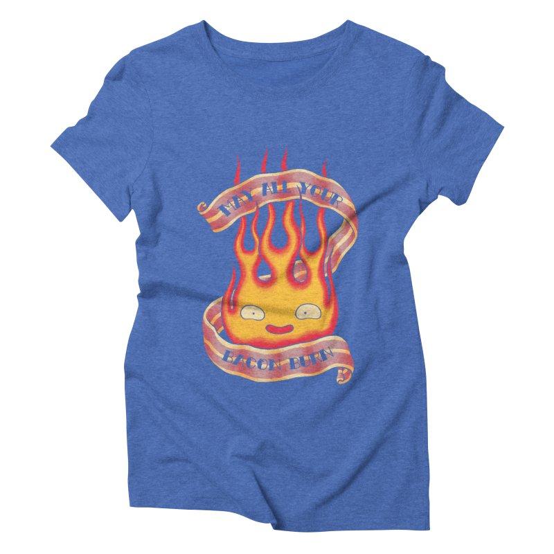 Bacon Burner Women's Triblend T-Shirt by spike00