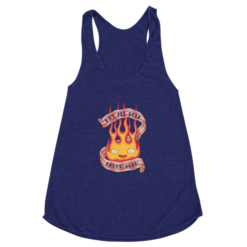Bacon Burner Women's Racerback Triblend Tank by spike00