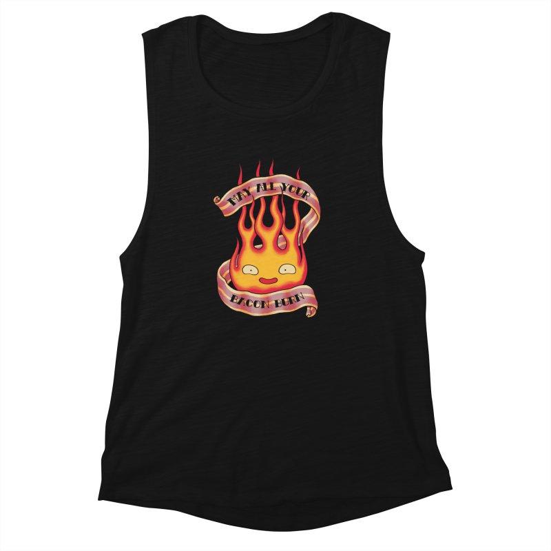 Bacon Burner Women's Muscle Tank by spike00