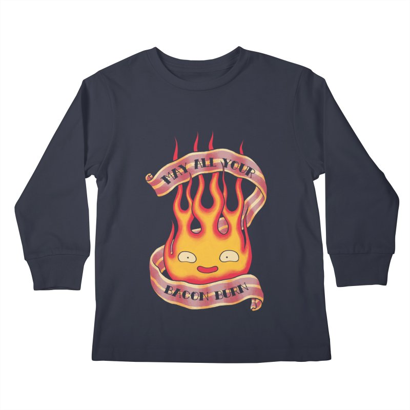 Bacon Burner Kids Longsleeve T-Shirt by spike00