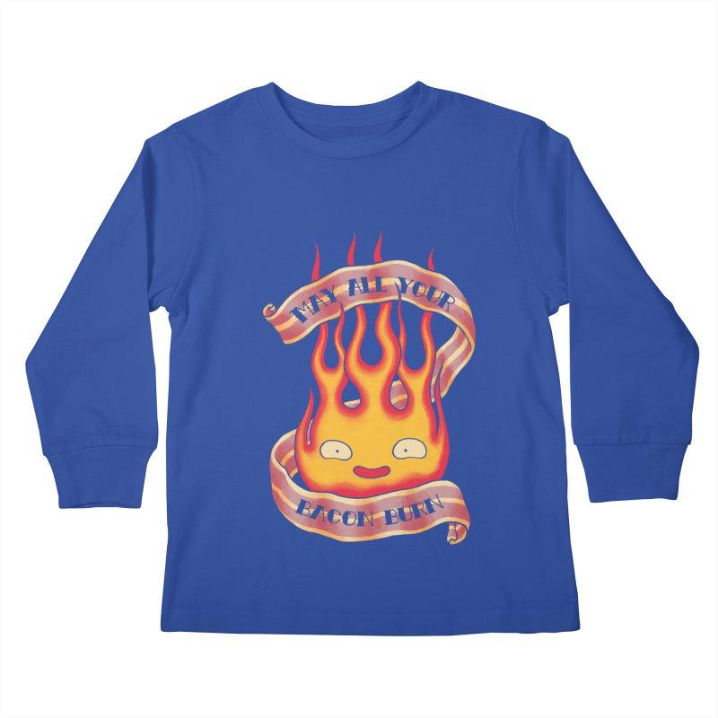 Bacon Burner Kids Longsleeve T-Shirt by spike00