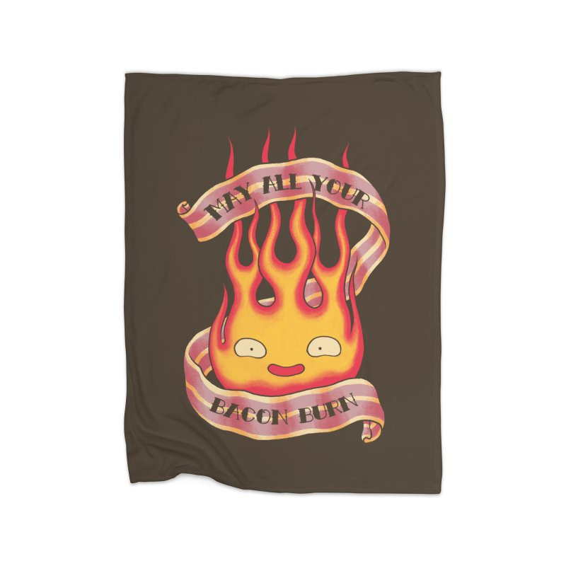 Bacon Burner Home Fleece Blanket Blanket by spike00