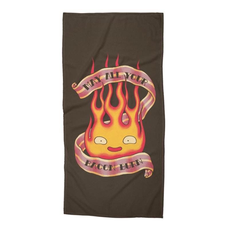 Bacon Burner Accessories Beach Towel by spike00