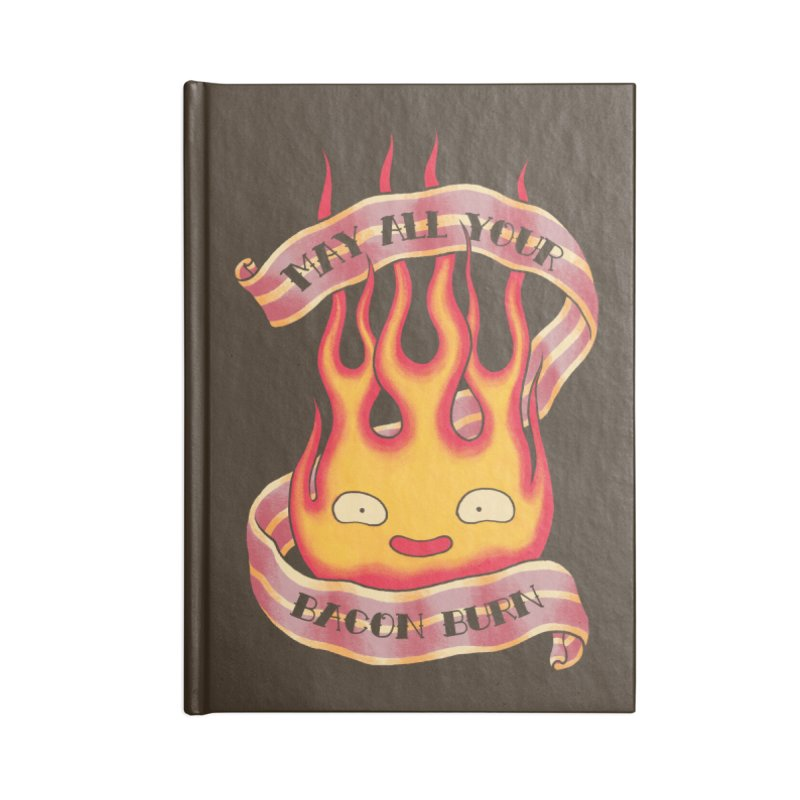 Bacon Burner Accessories Blank Journal Notebook by spike00