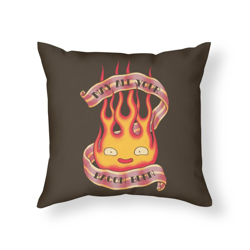 Bacon Burner Home Throw Pillow by spike00