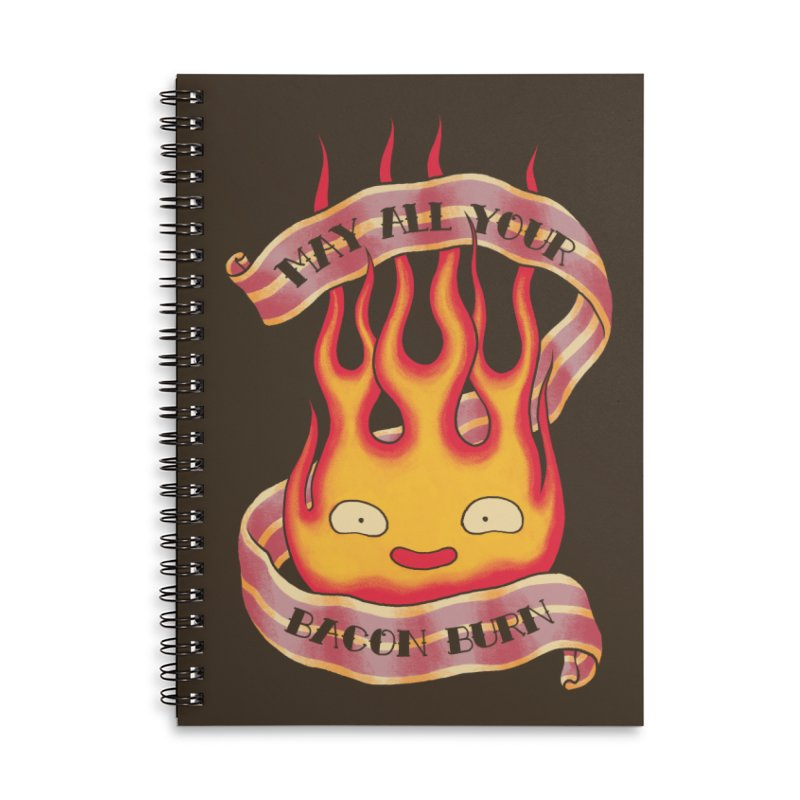 Bacon Burner Accessories Lined Spiral Notebook by spike00