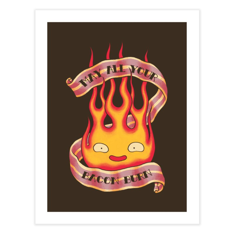 Bacon Burner Home Fine Art Print by spike00