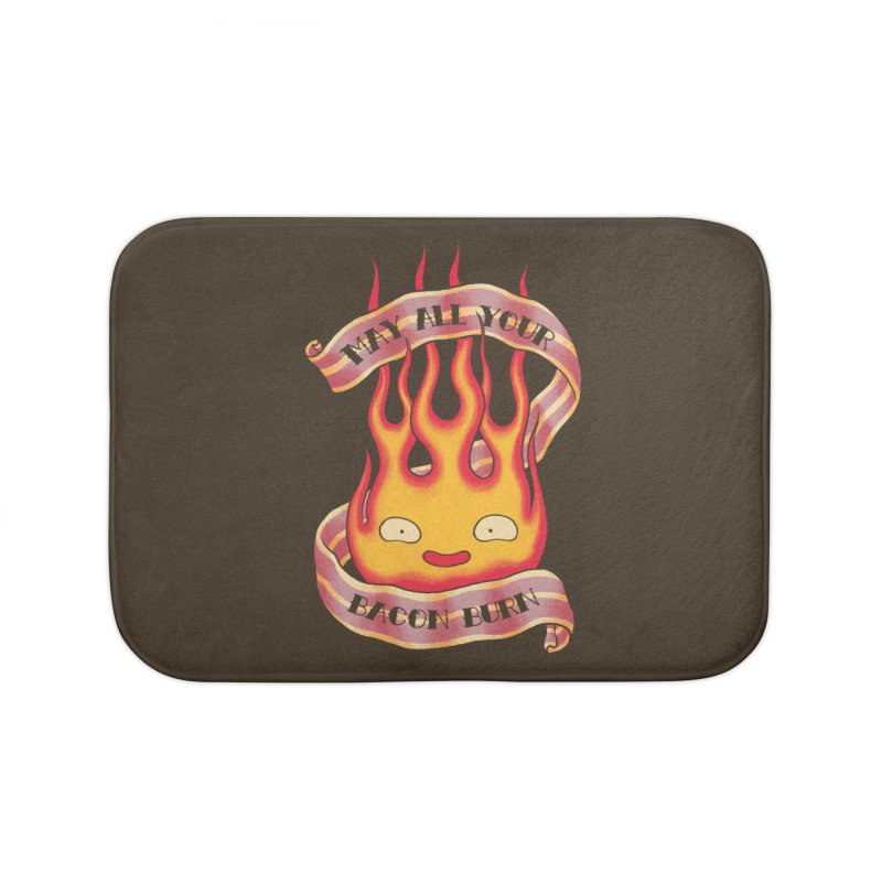 Bacon Burner Home Bath Mat by spike00