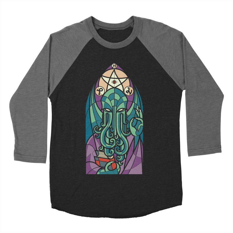 Cthulhu's Church Men's Baseball Triblend T-Shirt by spike00