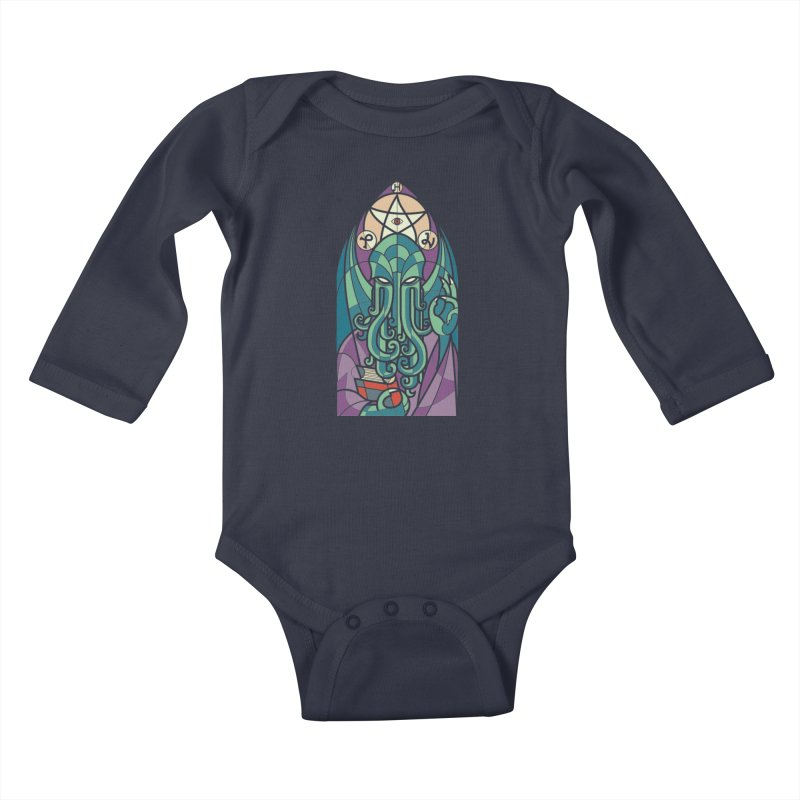 Cthulhu's Church Kids Baby Longsleeve Bodysuit by spike00