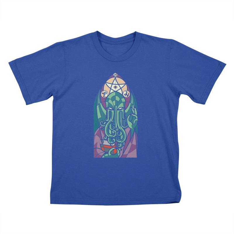 Cthulhu's Church Kids T-Shirt by spike00