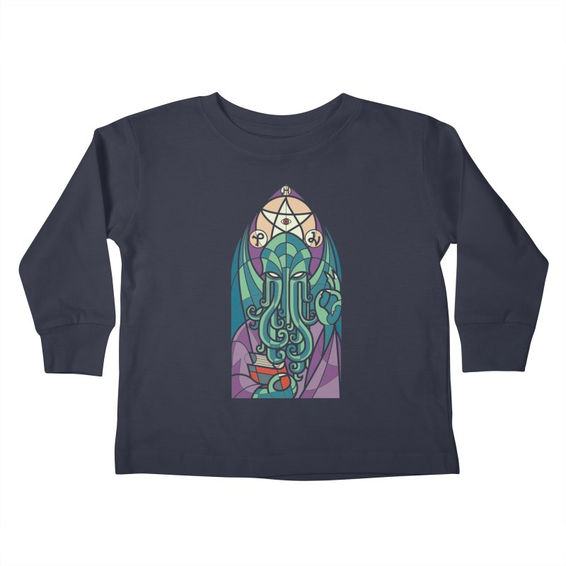 Cthulhu's Church Kids Toddler Longsleeve T-Shirt by spike00