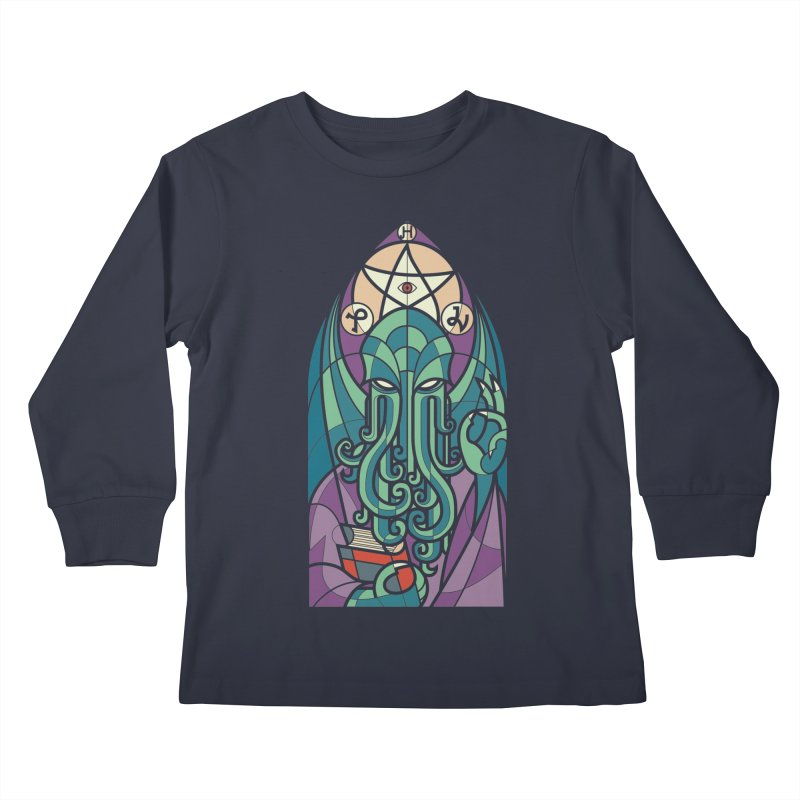 Cthulhu's Church Kids Longsleeve T-Shirt by spike00