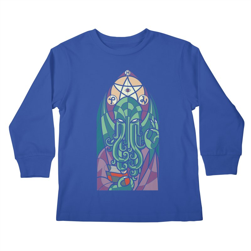 Cthulhu's Church Kids Longsleeve T-Shirt by spike00