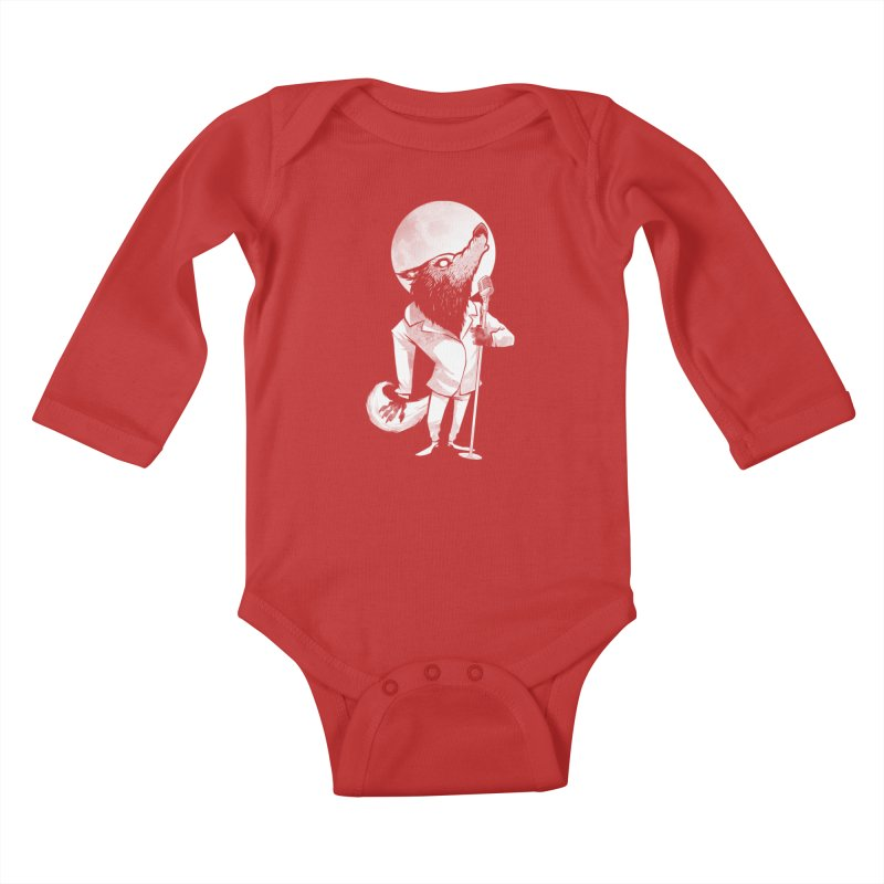 Moonlight serenade Kids Baby Longsleeve Bodysuit by spike00