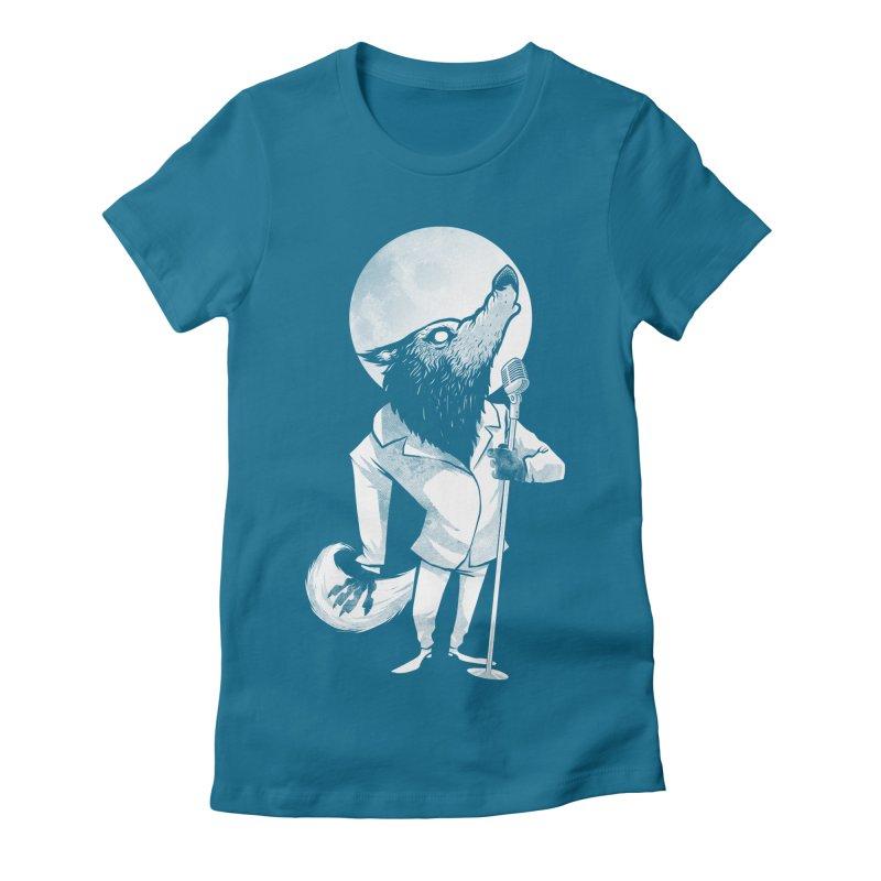 Moonlight serenade Women's Fitted T-Shirt by spike00