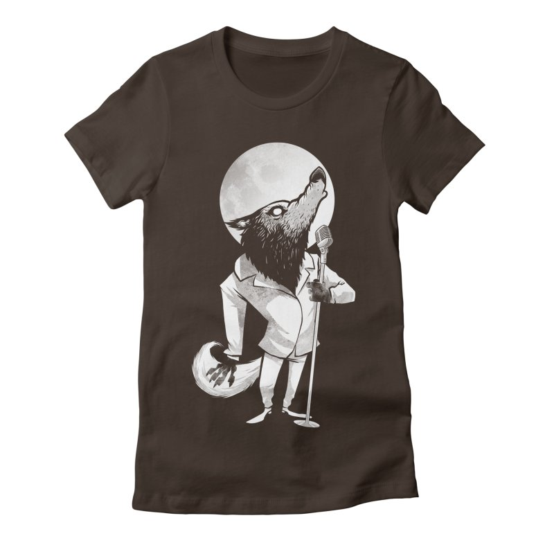 Moonlight serenade Women's Fitted T-Shirt by spike00