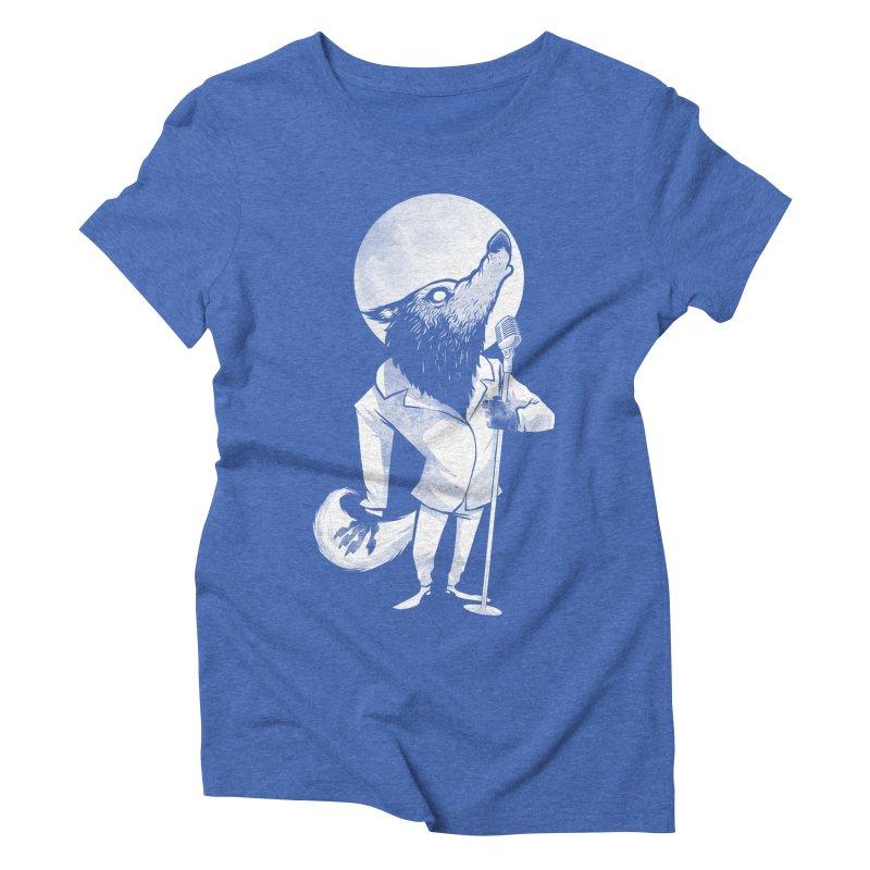 Moonlight serenade Women's Triblend T-Shirt by spike00