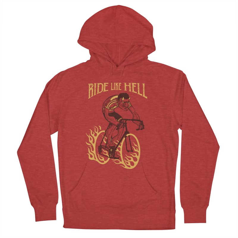 Ride like Hell Men's French Terry Pullover Hoody by spike00