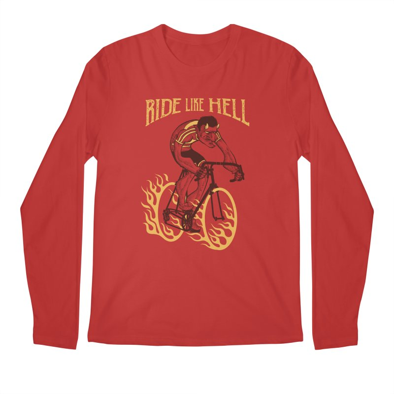 Ride like Hell Men's Regular Longsleeve T-Shirt by spike00