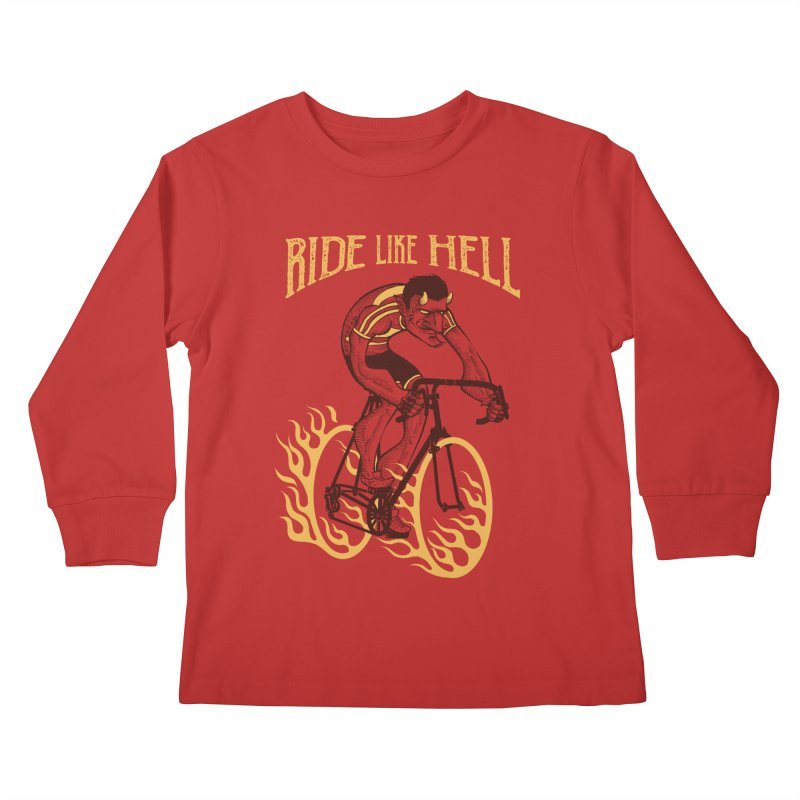 Ride like Hell Kids Longsleeve T-Shirt by spike00